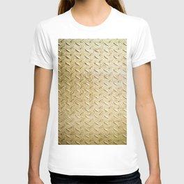 Gold Painted Metal Stylish Design T-shirt