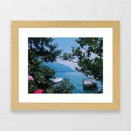 lake geneva, switzerland ix Framed Art Print