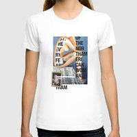 american T-shirts featuring The North American Woman by Matthew Billington