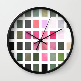Pink Roses in Anzures 6 Abstract Rectangles 2 Wall Clock