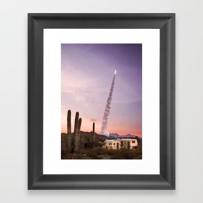 Rocket Desert Gerahmter Kunstdruck