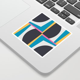 Modern Geometric 65 Blue Sticker