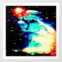 storm trooper Art Prints featuring STORM TROOPER by shannon's art space