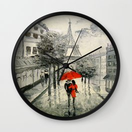 Paris Paris Wall Clock