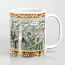 Vintage poster - Performing Elephants Coffee Mug