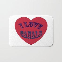 I love canals heart Bath Mat