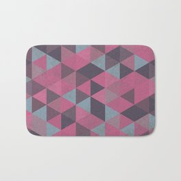 Abstract Triangles Bath Mat