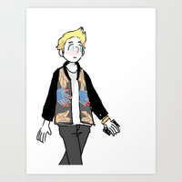 niall Art Prints featuring Niall  by yuzu fruit