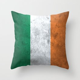 Distressed Irish Flag Throw Pillow