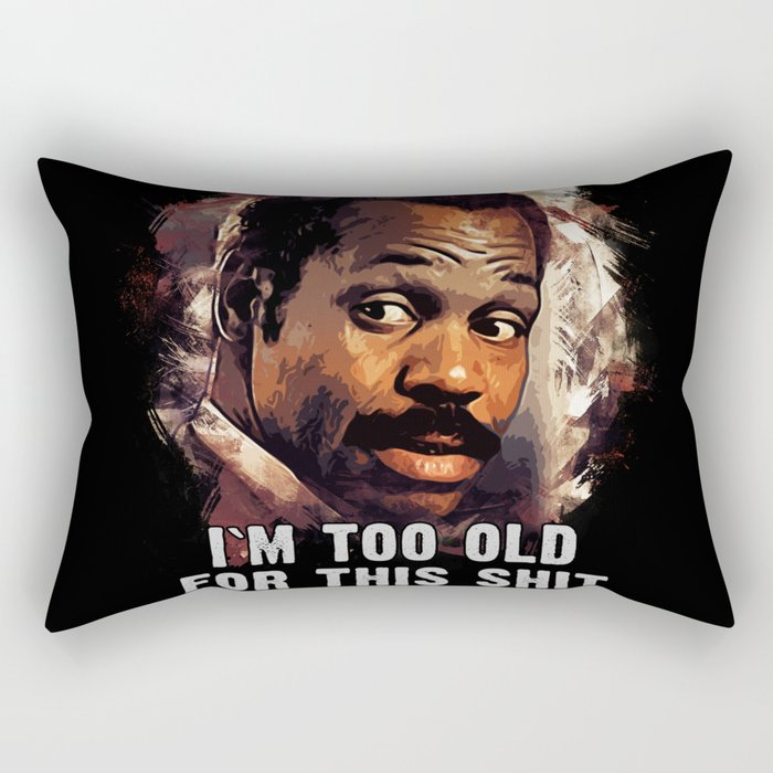 Danny Glover as Roger Murtaugh Rectangular Pillow