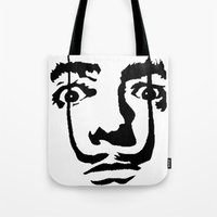 salvador dali Tote Bags featuring salvador dali by b & c