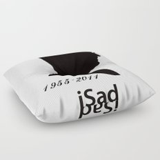 iSad 1955-2011 (Black) Floor Pillow