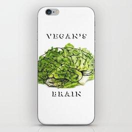 Vegan's brain iPhone Skin
