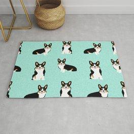TriCorgis - Cute corgi, dog pet, corgi decor, corgi pillow, corgi bedding, corgi pattern, cute corgi Rug