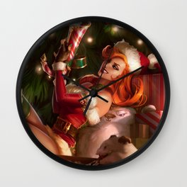 Candy Cane Miss Fortune League Of Legends Wall Clock
