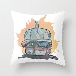 Robo-Burger Throw Pillow