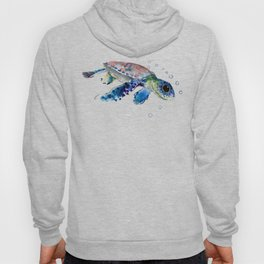 Sea Turtle Illustration Hoody