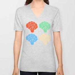 Vegetable Love Cauliflower Shirt Cauliflower Color Variations Unisex V-Neck