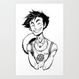 Luffy Art Print
