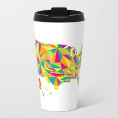 Abstract America Bright Earth Travel Mug