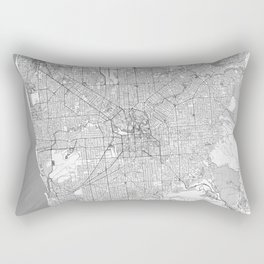 Adelaide Map Line Rectangular Pillow