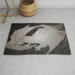 Storm Kings (Dragon thunder and lightning) Rug