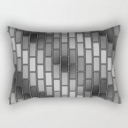 BRICK WALL #2 (Grays) Rectangular Pillow