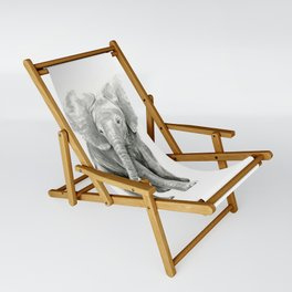 Baby Elephant Watercolor Sling Chair