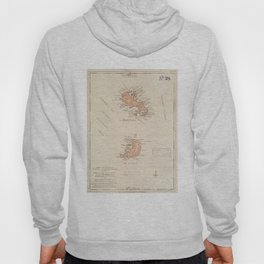 Vintage Map of St Lucia & Martinique (1781) Hoody