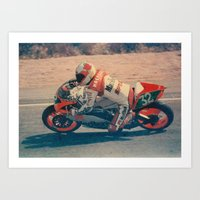 moto Art Prints featuring Moto by AkaisColoraos
