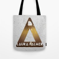 laura palmer Tote Bags featuring Bastille #1 Laura Palmer by Thafrayer