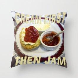 Cream First Throw Pillow