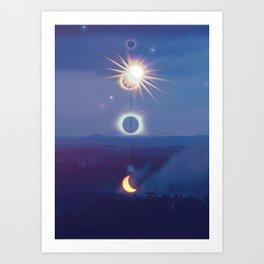 Wilderness Eclipse Art Print