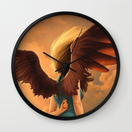 About to fall Wall Clock