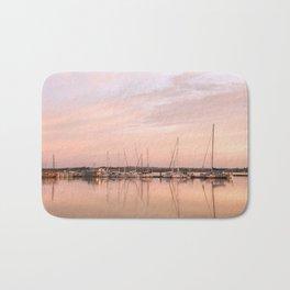 Pink sundown at the sea Bath Mat
