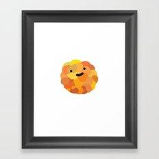 Happy orange Framed Art Print