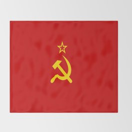 Flag of USSR Throw Blanket