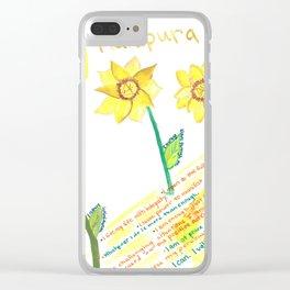 Sunflower Solar Plexus Chakra Clear iPhone Case