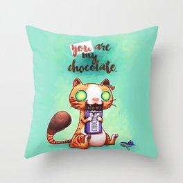 Chocolate addict Throw Pillow
