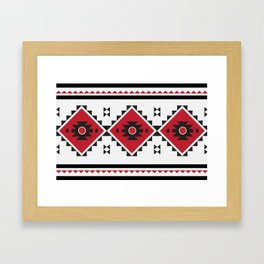 Bulgarian Folklore Inspired Design - KANATITSA Framed Art Print