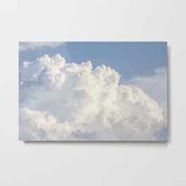 Puffy Clouds Skyscape | Heavenly Sky Metal Print