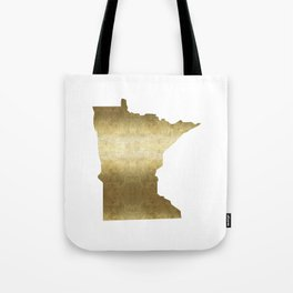 minnesota gold foil state map Tote Bag