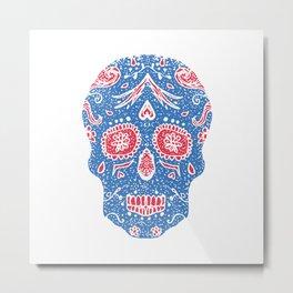 Hand draw skull Metal Print