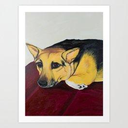 Corky the Corgi Art Print