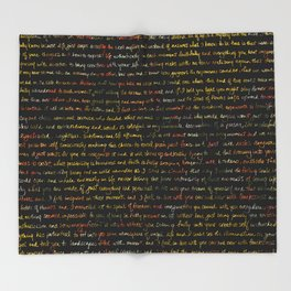 Marigold Kaleidoscope + Journal Writing Overlay Throw Blanket