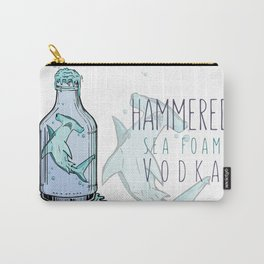 Hammered Sea Foam Vodka Carry-All Pouch