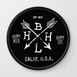 Hoppy Beer Hoppy Life Circle Patch Design Wall Clock