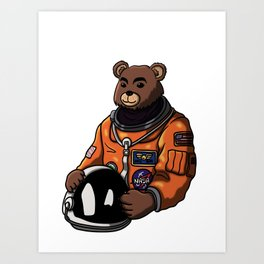 Space Bear Blank Art Print