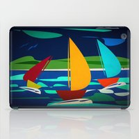 sailing iPad Cases featuring sailing by laika in cosmos