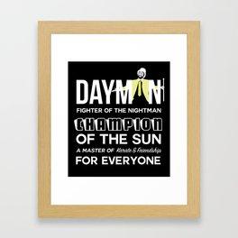 Dayman Framed Art Print